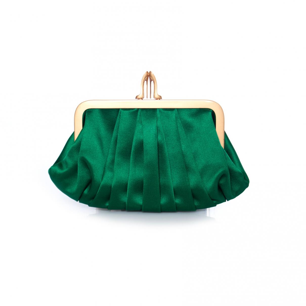 Christian Louboutin - Pochette   pour femme en soie - vert