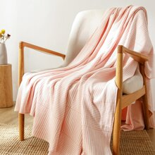 Striped Pattern Knitted Blanket