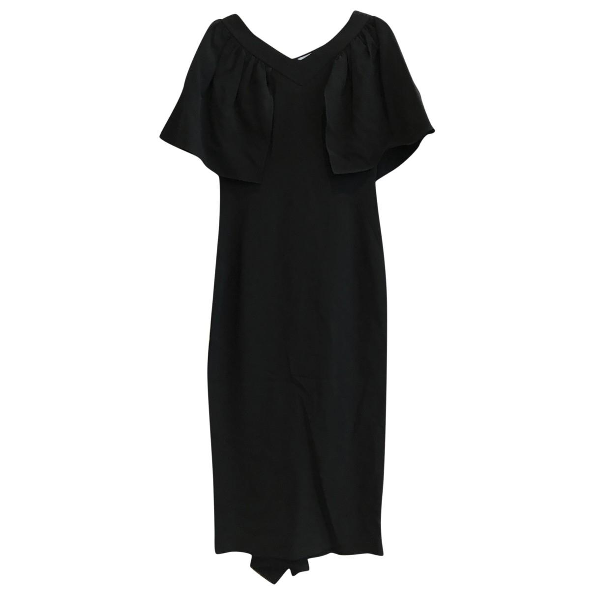 Osman London \N Kleid in  Schwarz Viskose
