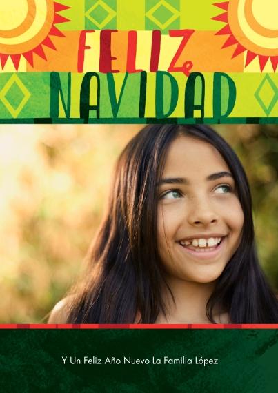 Tarjetas de Navidad Mail-for-Me Premium 5x7 Flat Card, Card & Stationery -Sunfilled Felize