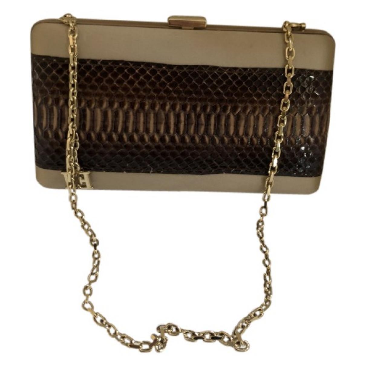 Escada \N Beige Cloth Clutch bag for Women \N