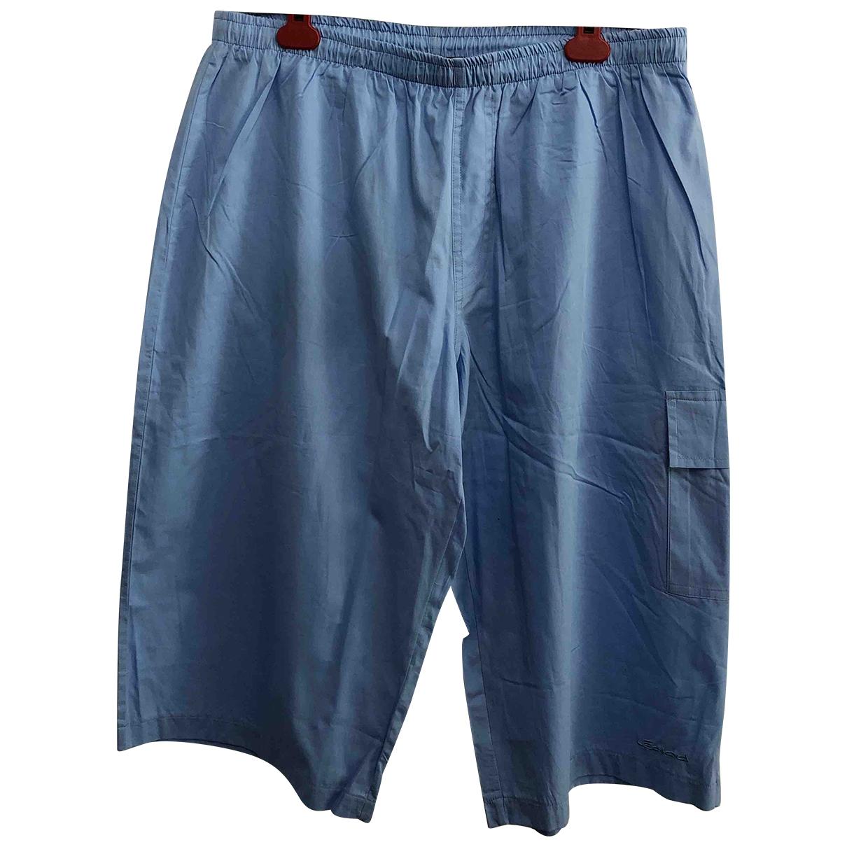 Leonard - Bain   pour homme en coton - elasthane - bleu