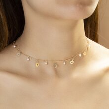 Faux Pearl Decor Choker