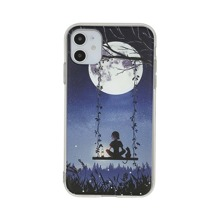 Swing Under The Moon Print iPhone Case
