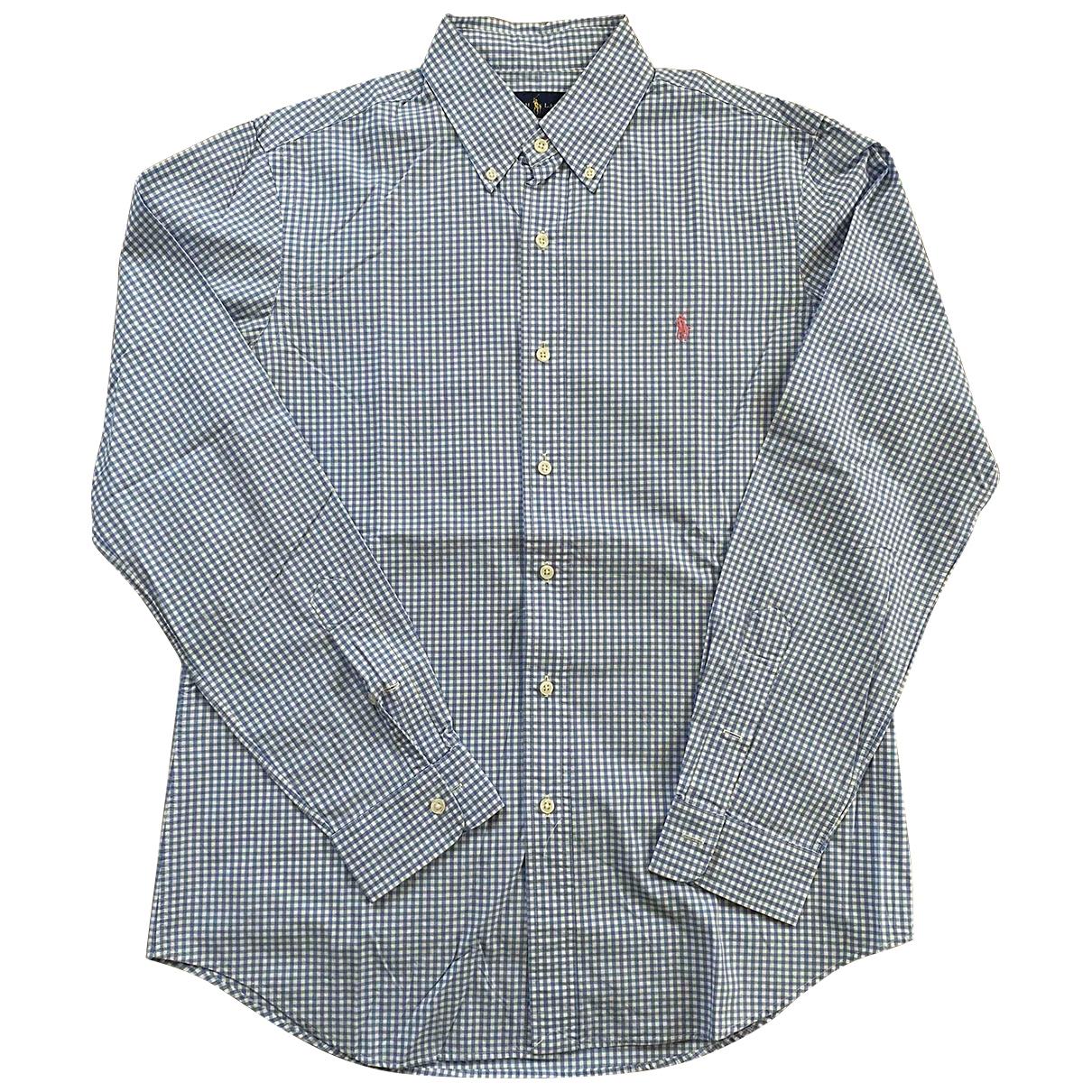 Ralph Lauren \N Blue Cotton Shirts for Men M International