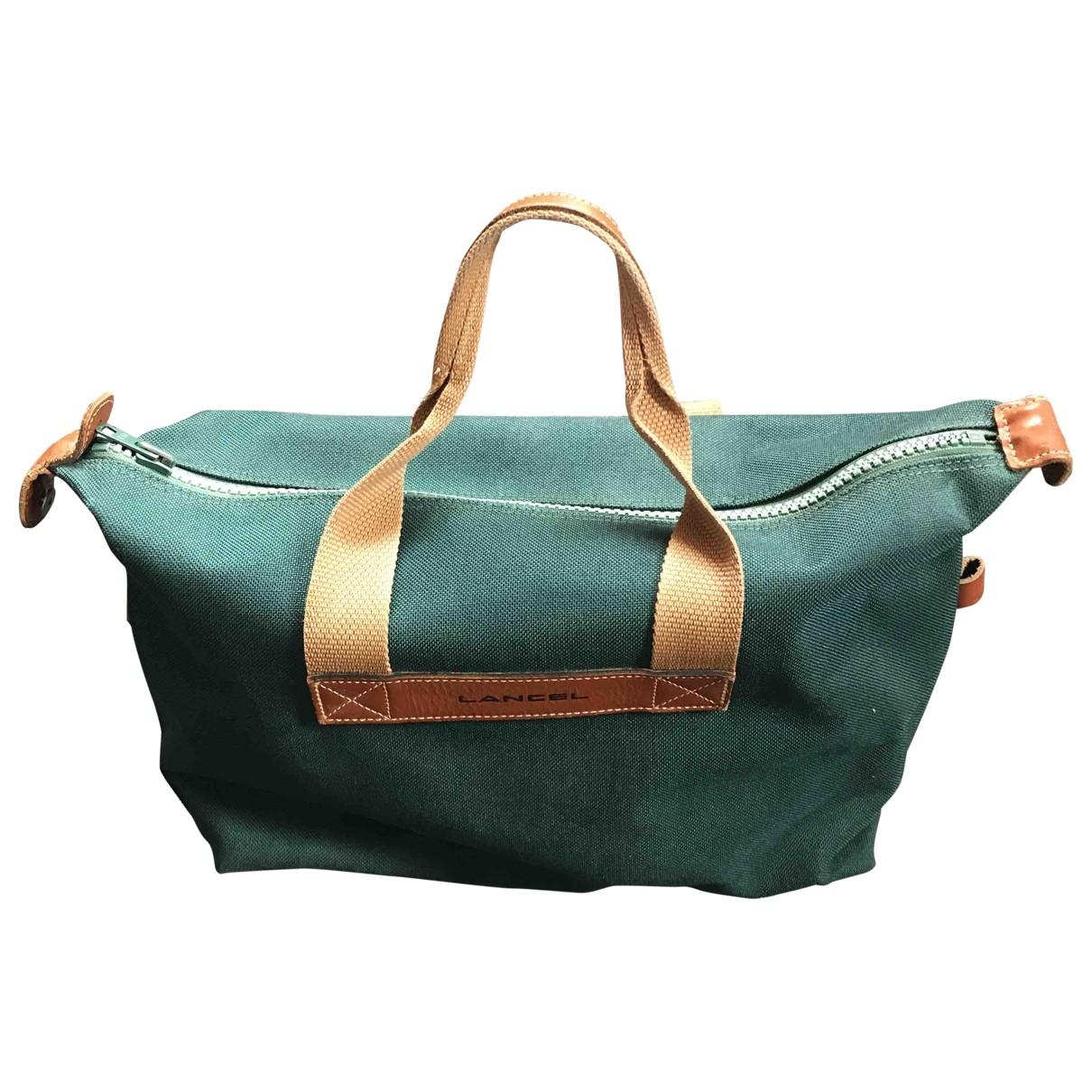 Lancel \N Green Cloth Travel bag for Women \N