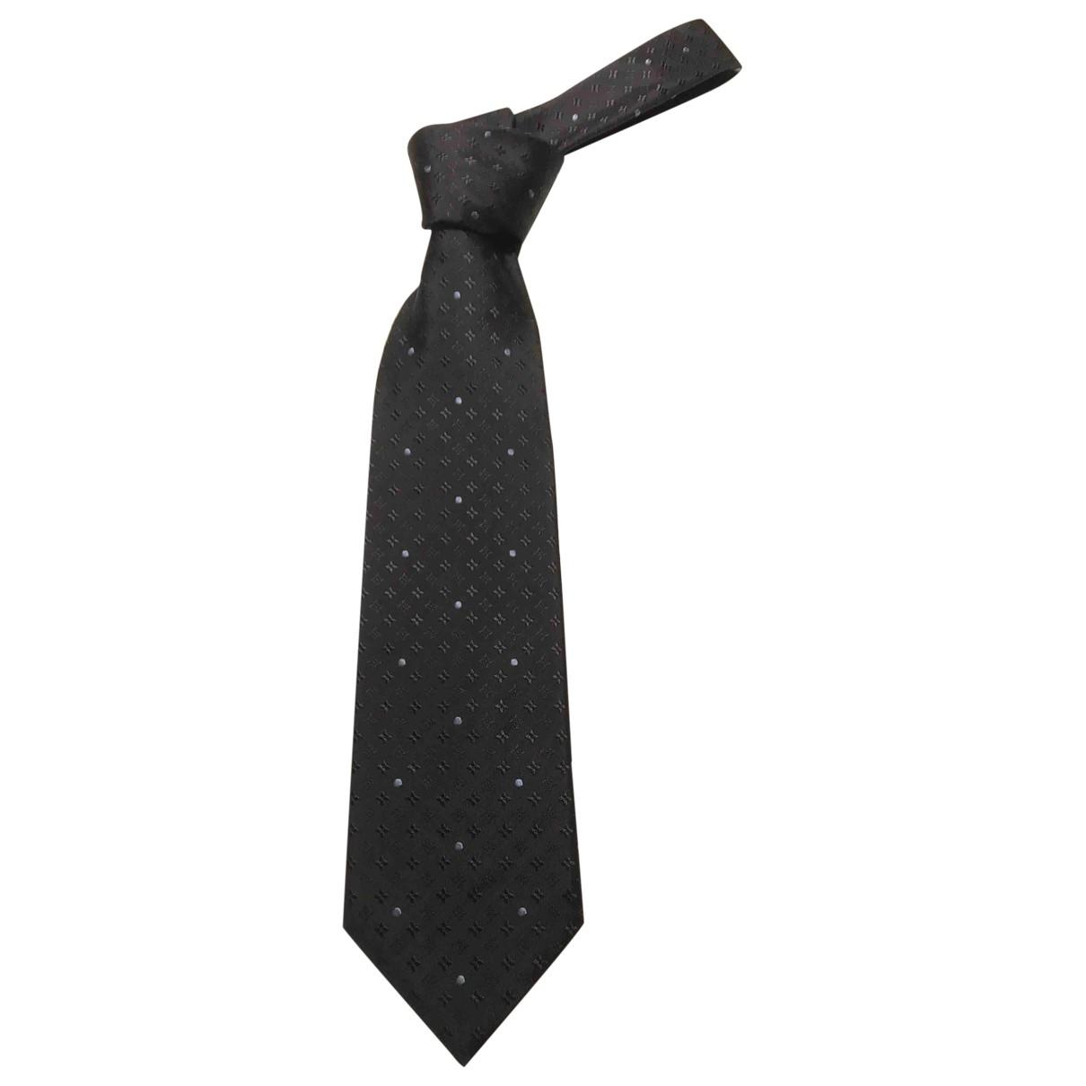 Louis Vuitton \N Anthracite Silk Ties for Men \N