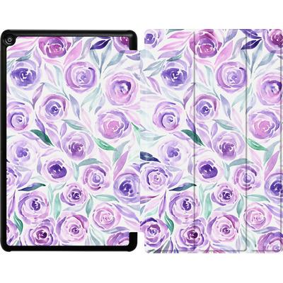 Amazon Fire HD 10 (2018) Tablet Smart Case - Purple Rose Floral von Becky Starsmore