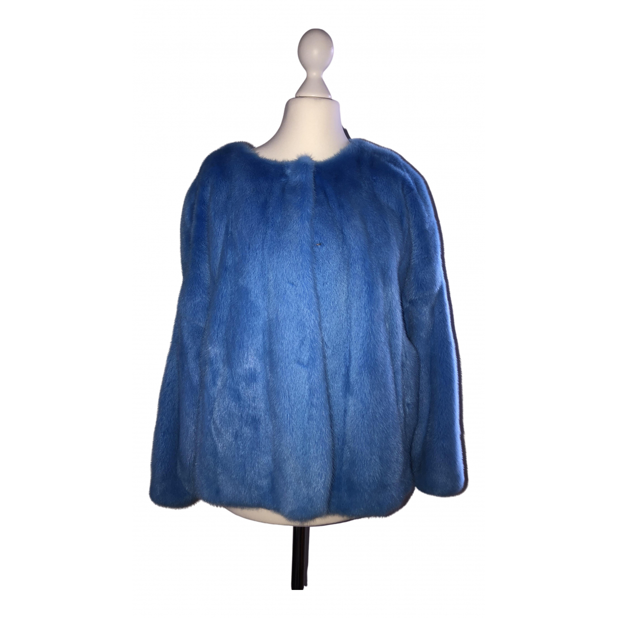 Non Signé / Unsigned \N Blue Mink jacket for Women 44 IT