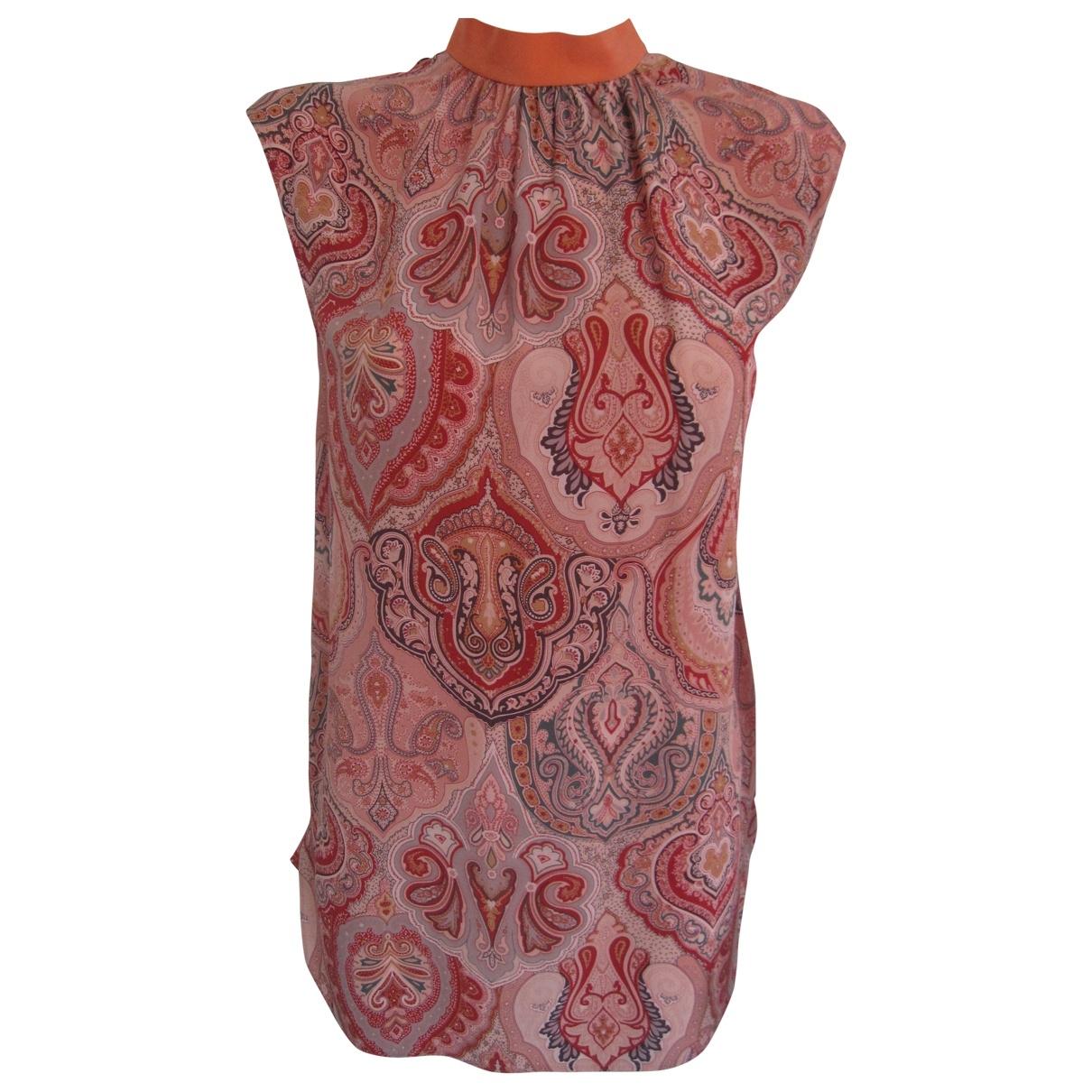 Celine \N Orange Silk  top for Women 38 FR