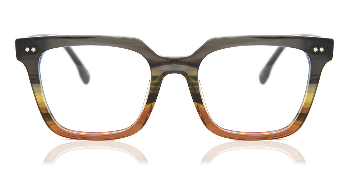 Square Full Rim Plastic Men's Glasses Discount Black Size 51 - Free Lenses - HSA/FSA Insurance - Blue Light Block Available - Arise Collective