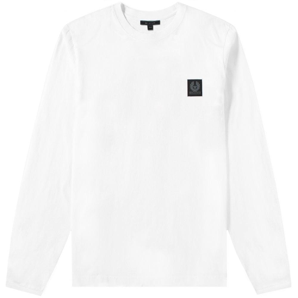Belstaff Trenham Long Sleeve T-Shirt Colour: WHITE, Size: SMALL