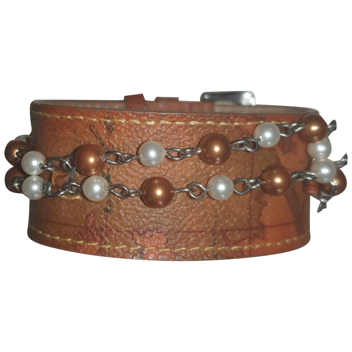 Non Signe / Unsigned \N Armband in  Braun Leder