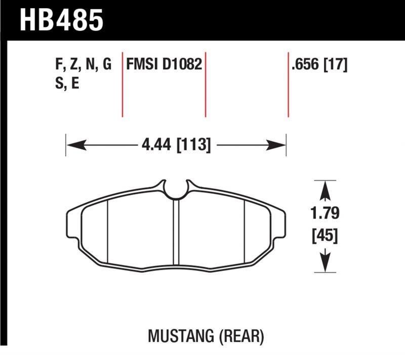 Hawk Performance HB485B.656 Disc Brake Pad Ford Mustang Rear 2005-2014