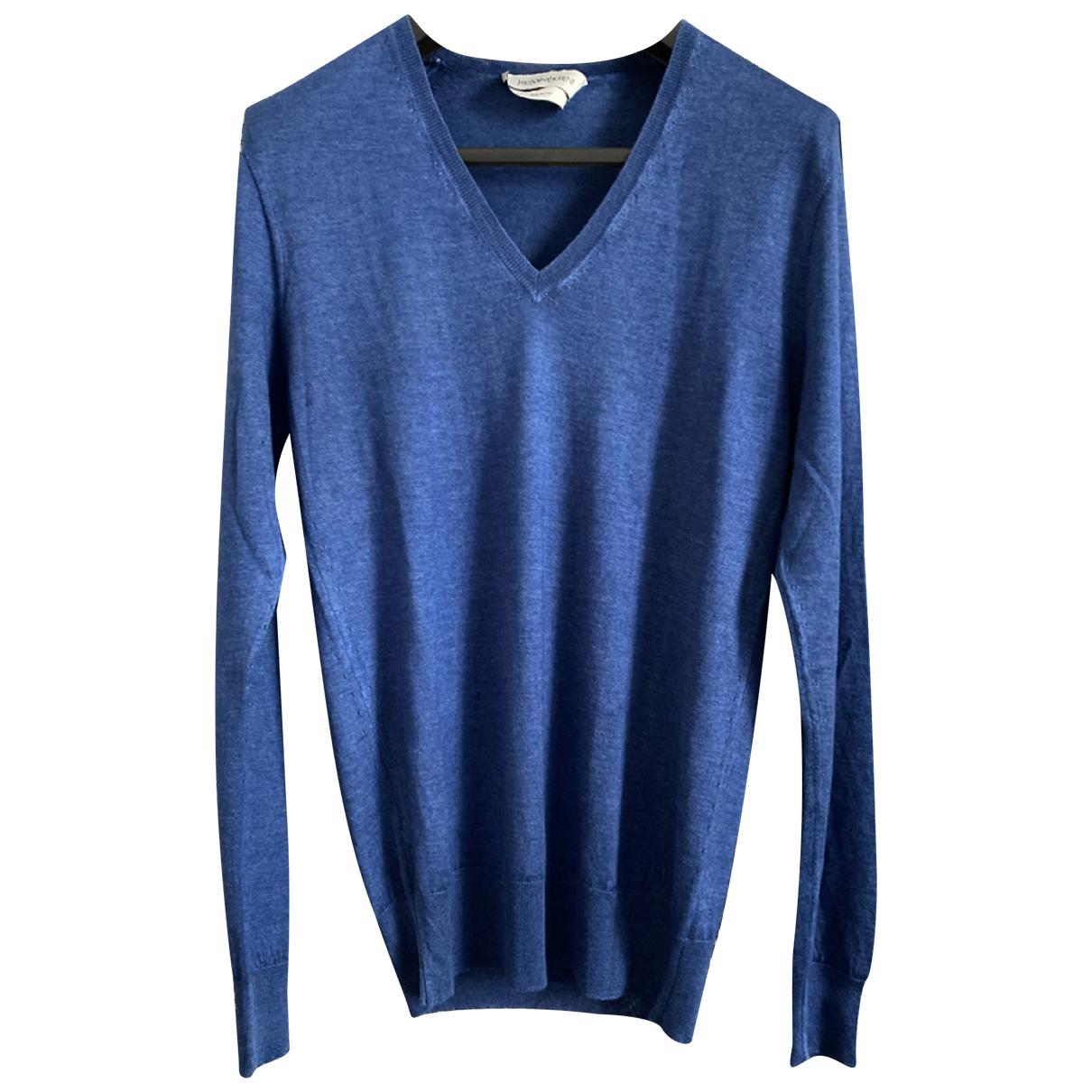 Yves Saint Laurent N Blue Wool Knitwear & Sweatshirts for Men L International