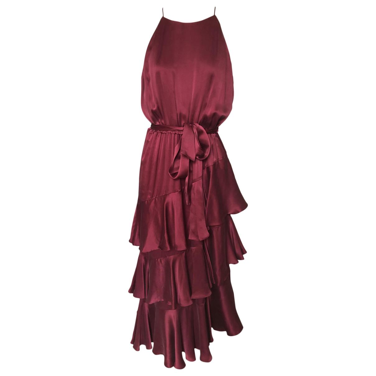 Zimmermann - Robe   pour femme en soie - bordeaux