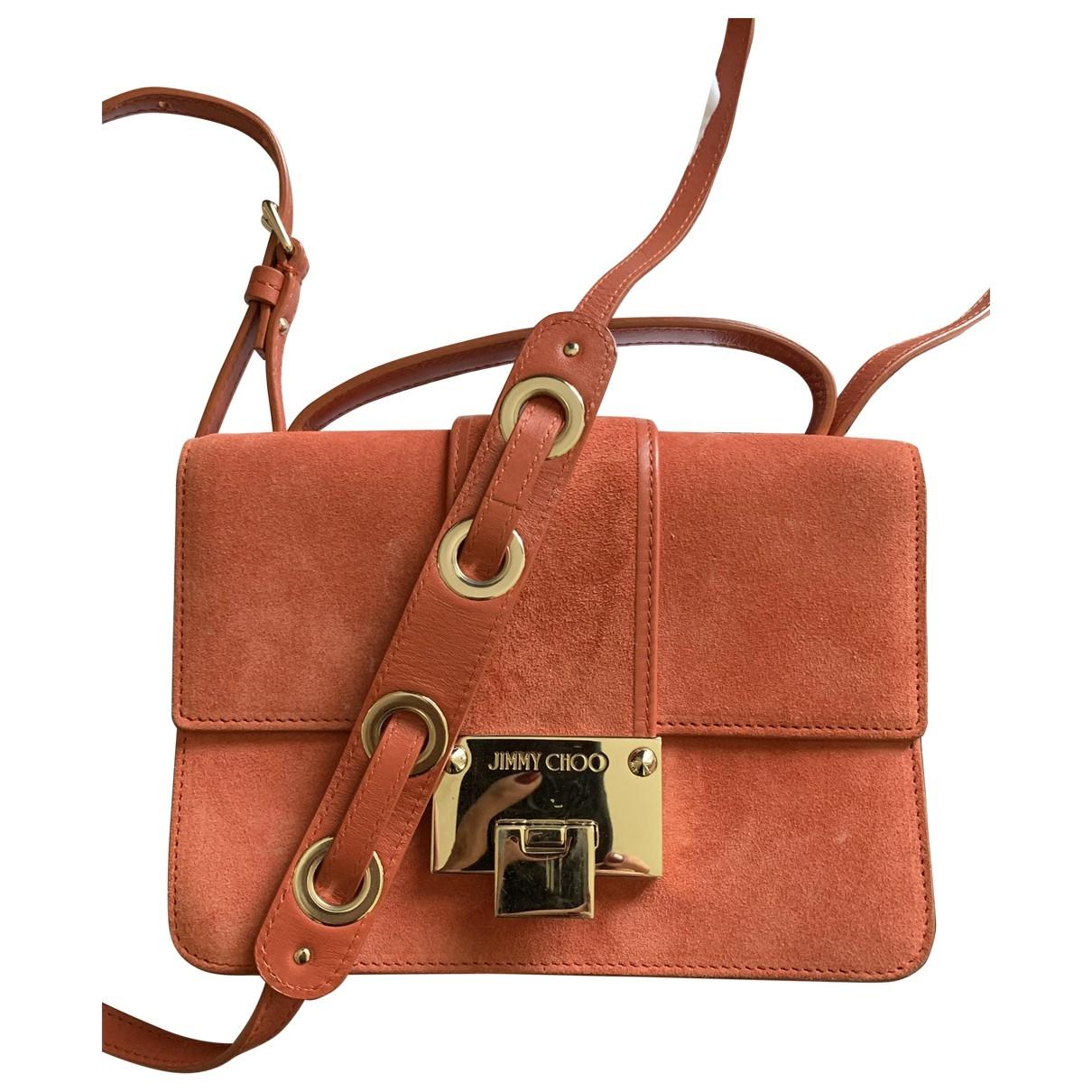 Jimmy Choo Rebel Handtasche in  Orange Veloursleder