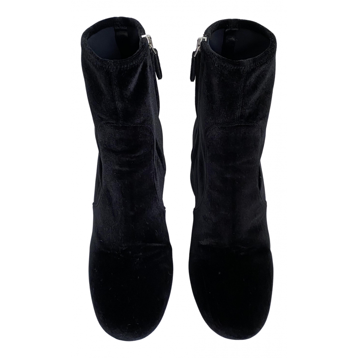 Prada N Black Velvet Ankle boots for Women 40.5 EU