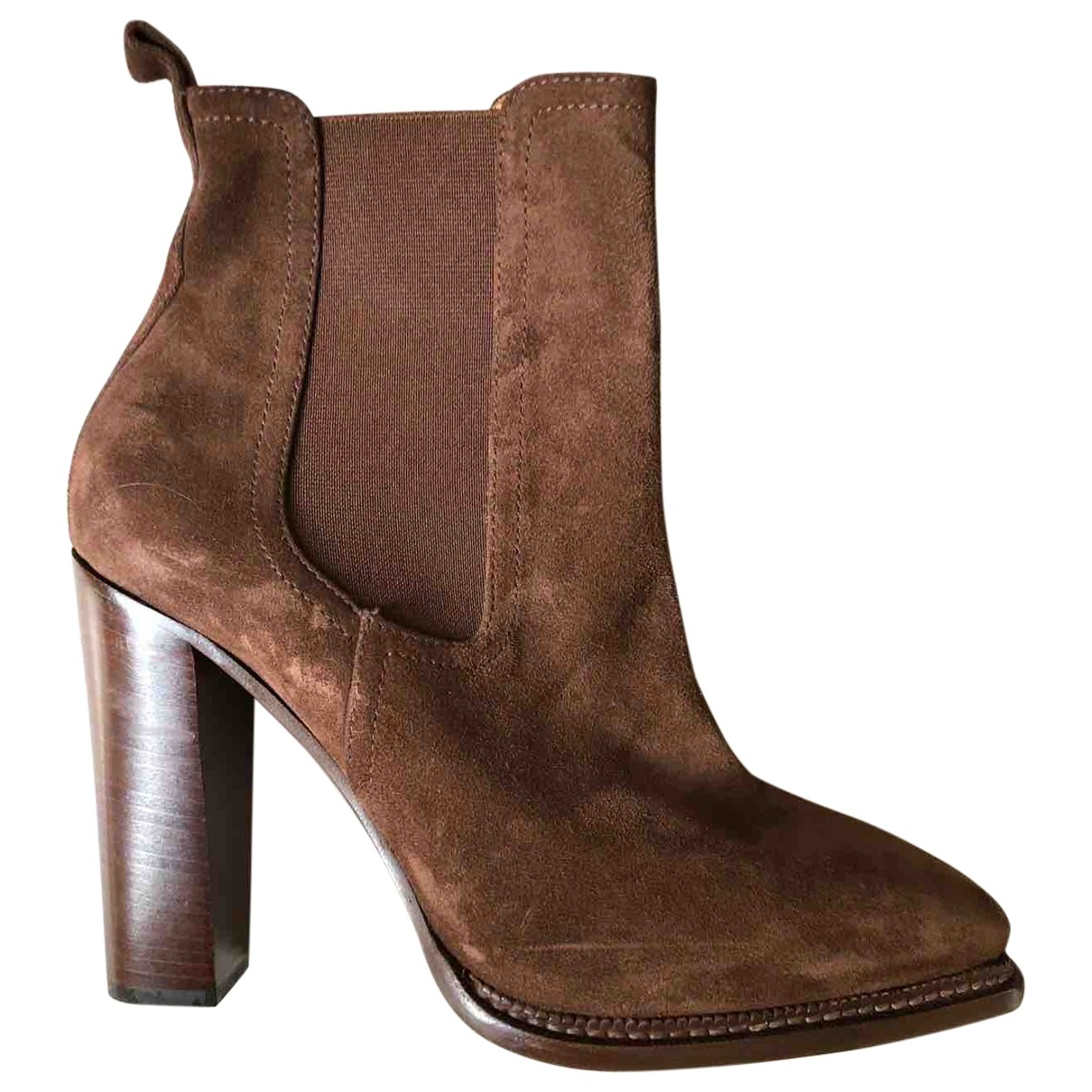 Ralph Lauren Collection \N Brown Suede Ankle boots for Women 7 UK