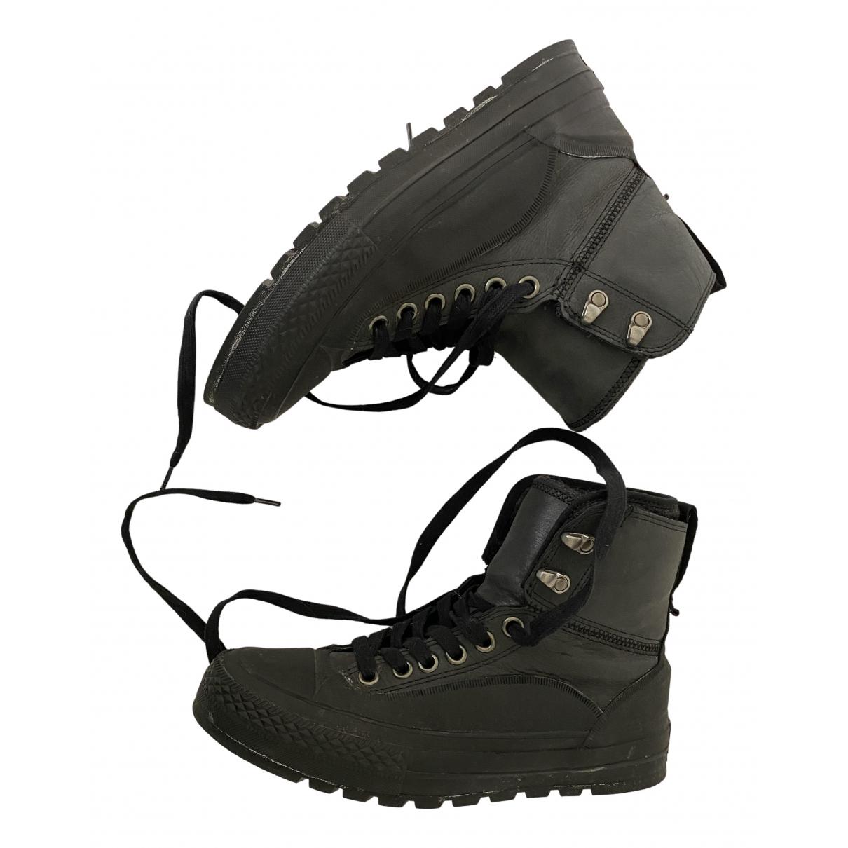 Converse \N Stiefeletten in  Schwarz Leder