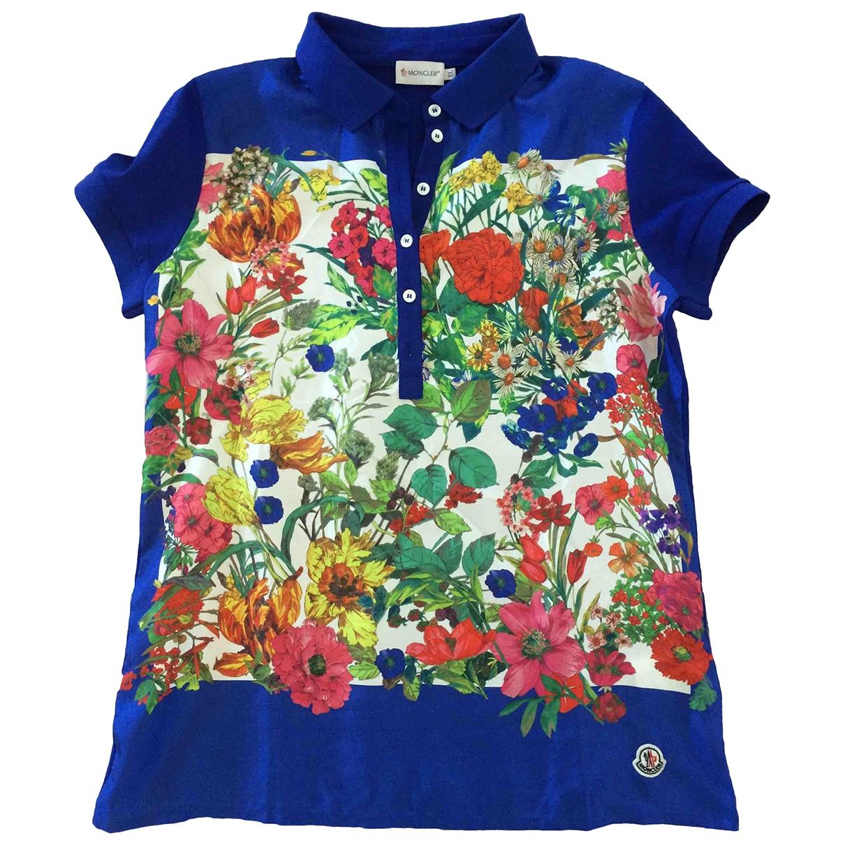 Moncler \N Blue Silk  top for Women XL International