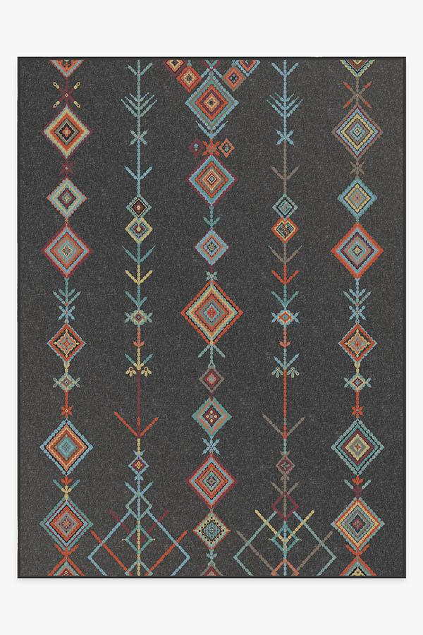 Washable Rug Cover & Pad | Kenza Charcoal Rug | Stain-Resistant | Ruggable | 9'x12'