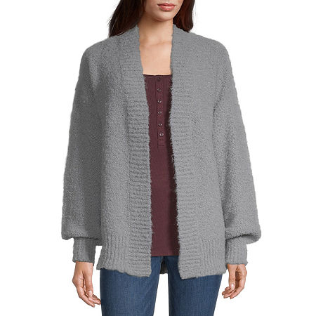 a.n.a Womens Long Sleeve Cardigan, Large , Gray