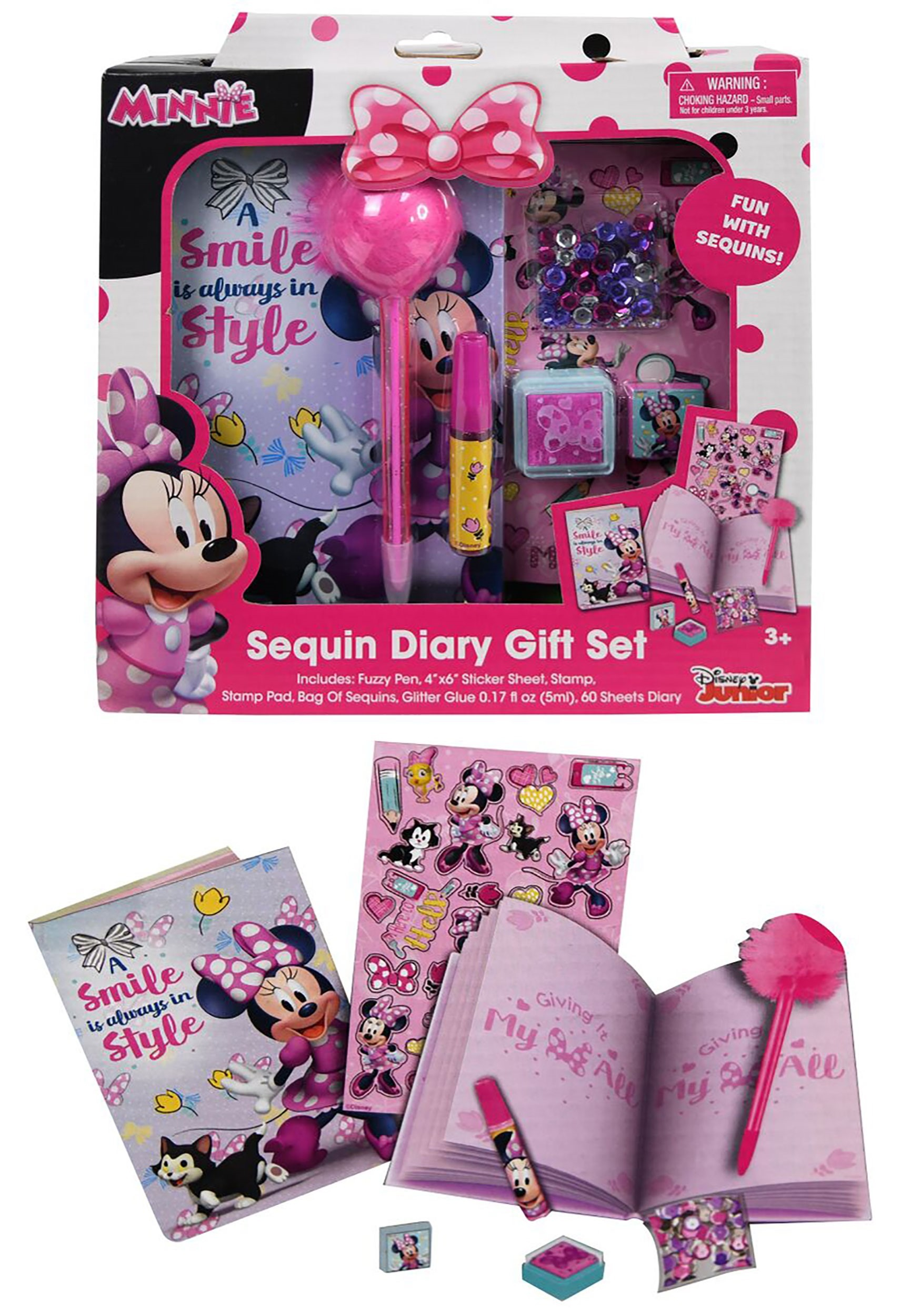 Disney Minnie Mouse Diary Set in a Box