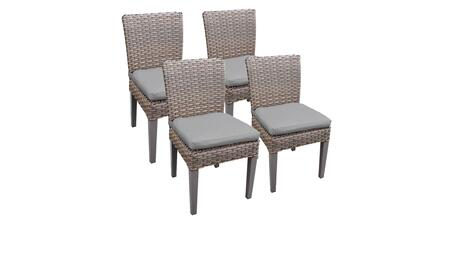 Florence Collection FLORENCE-TKC290b-ADC-2x-C-GREY 4 Side Chairs - 2 Sets of Grey