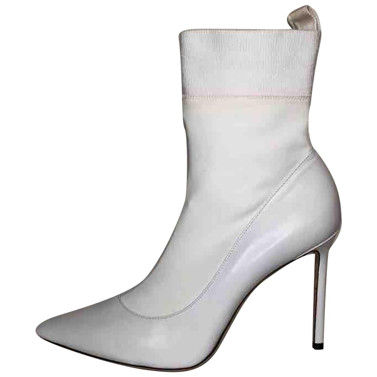 Jimmy Choo - Boots   pour femme en cuir - blanc