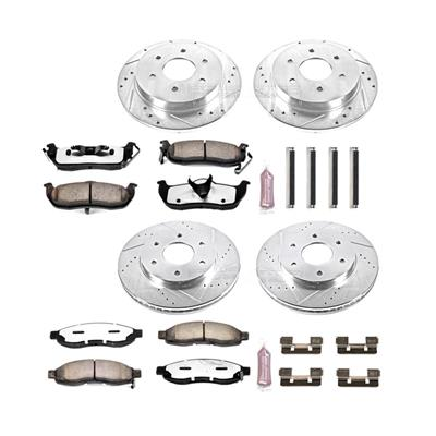 Power Stop Z36 Severe-Duty Truck & Tow 1-Click Front and Rear Brake Kit - K2443-36