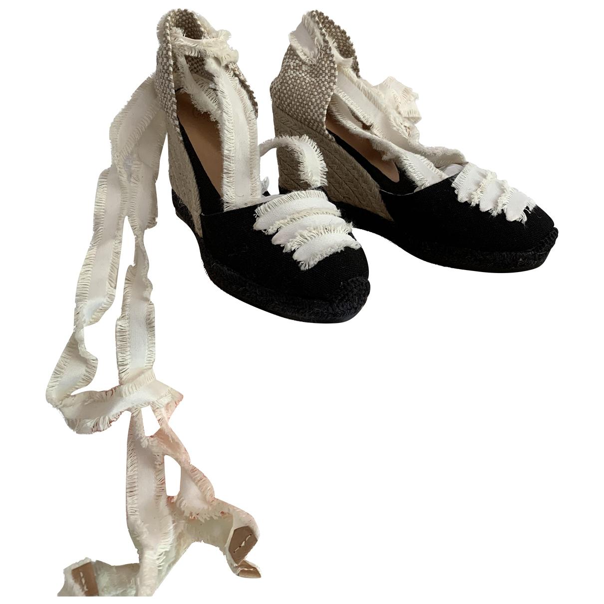 Castaner - Espadrilles   pour femme en toile - noir