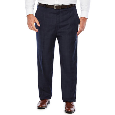 Stafford Woven Suit Pants Big and Tall, 44 29, Blue