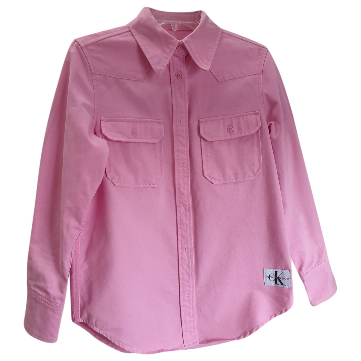 Calvin Klein \N Pink Cotton  top for Women 34 FR