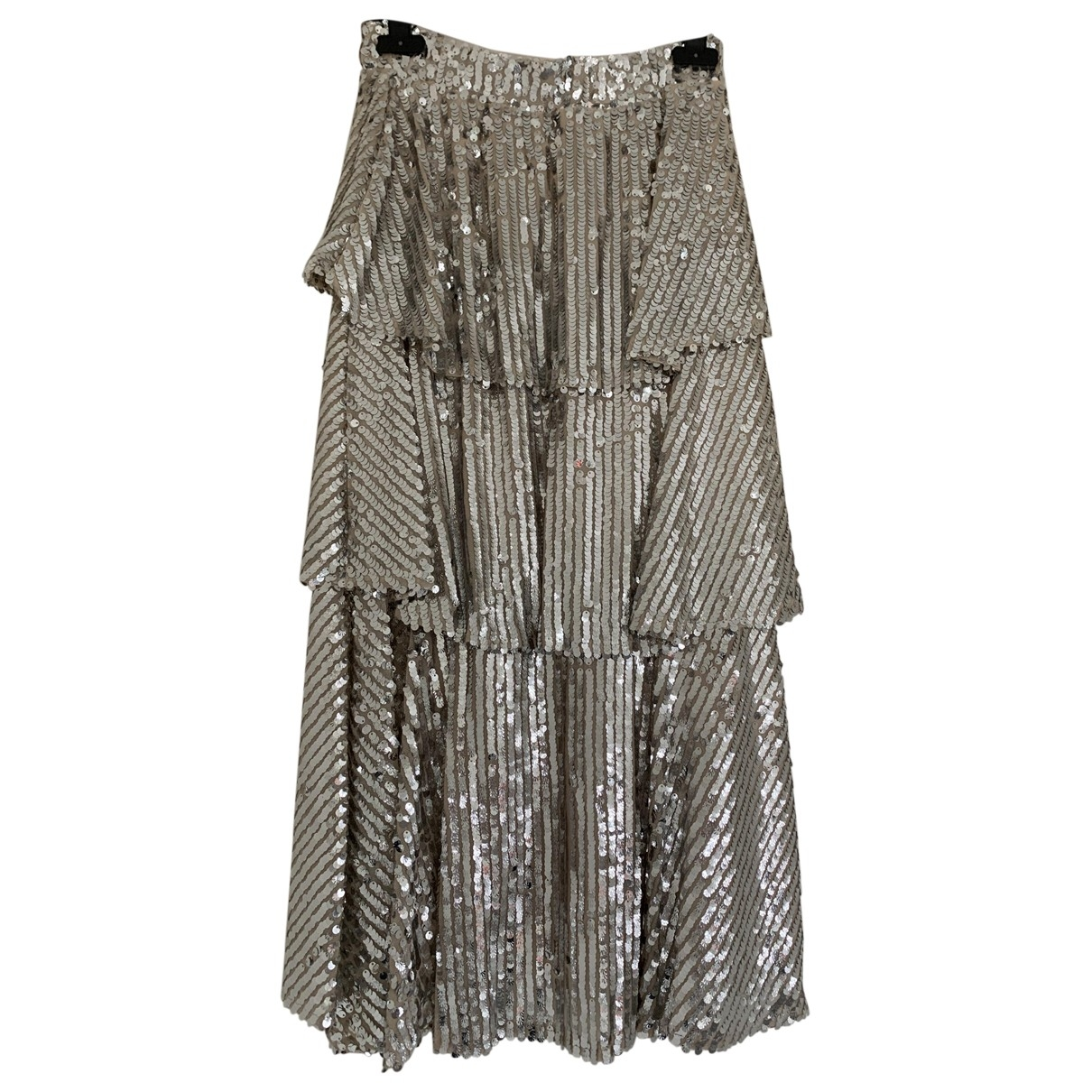 Non Signé / Unsigned \N Silver Glitter skirt for Women 40 IT