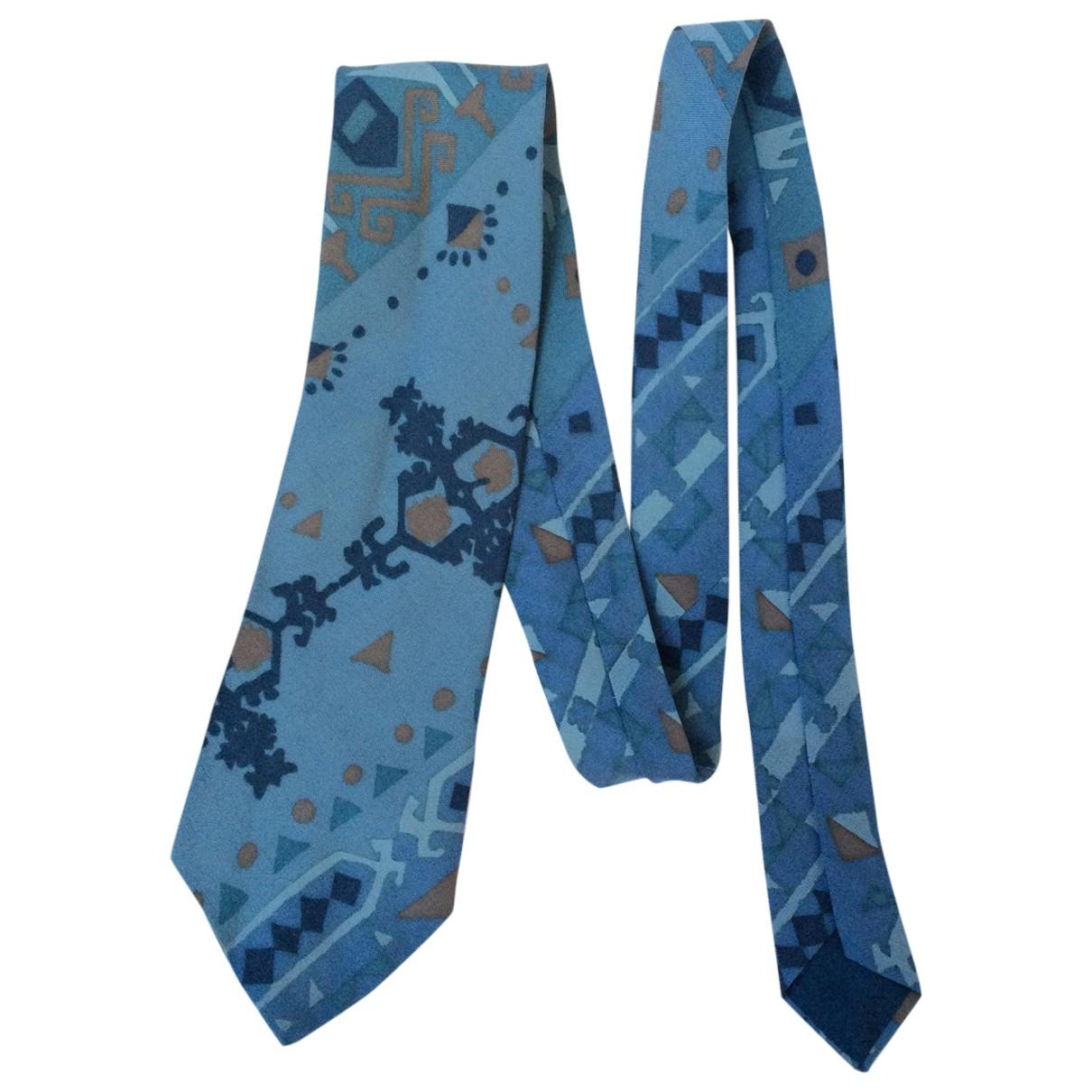 Dior - Cravates   pour homme en laine - turquoise