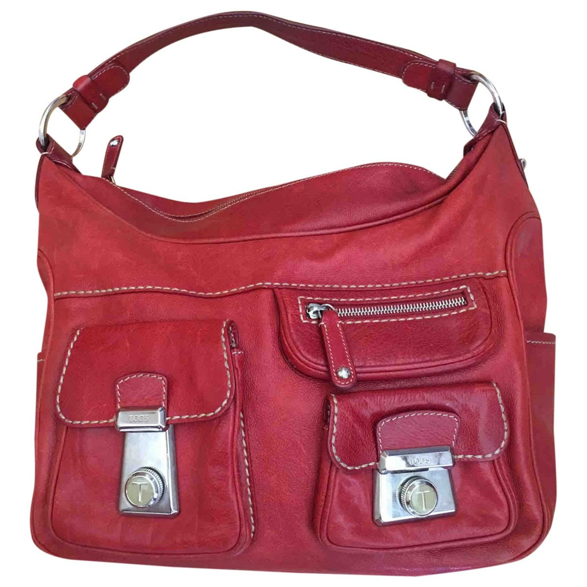 Tods \N Red Leather handbag for Women \N