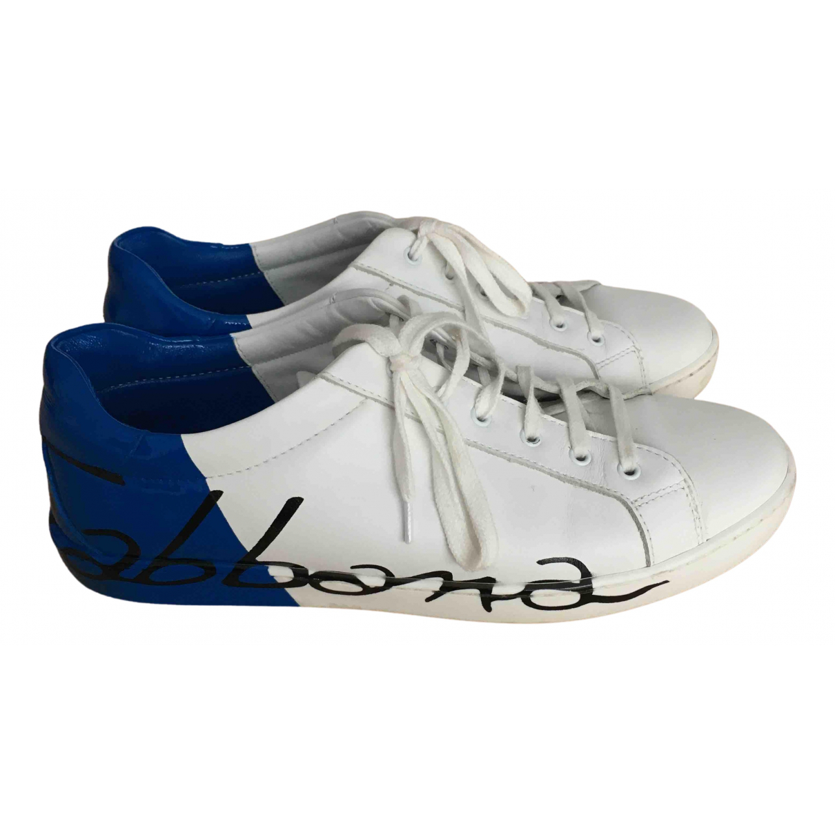 Dolce & Gabbana N White Leather Trainers for Kids 38 FR