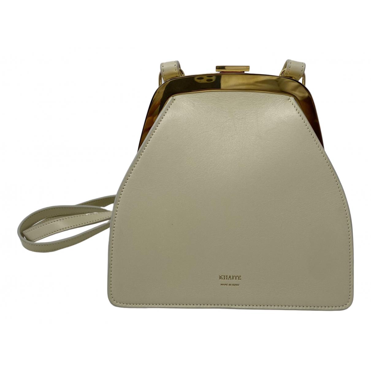 Khaite \N Ecru Leather handbag for Women \N