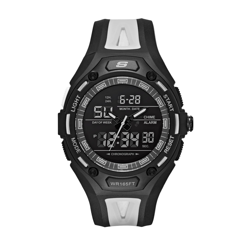 Skechers Men's Liberty SR1069 Black Polyurethane Quartz Sport Watch