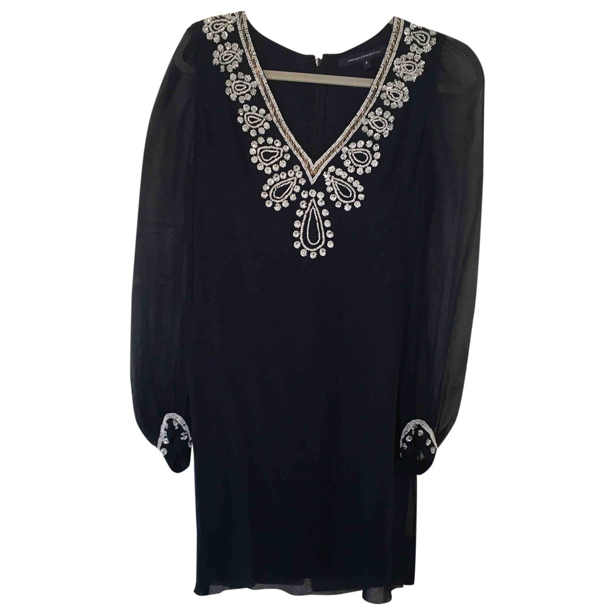 French Connection \N Navy Silk dress for Women 8 UK
