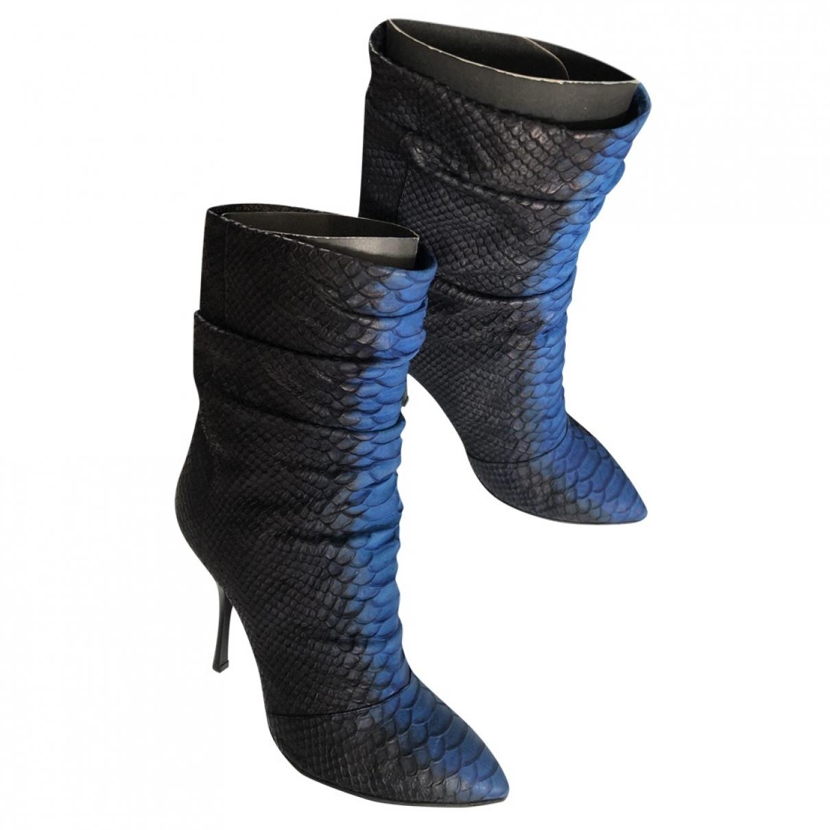 Giuseppe Zanotti - Boots   pour femme en python - noir