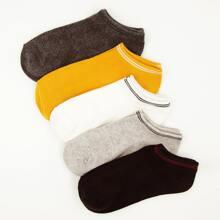 5pairs Striped Pattern Socks