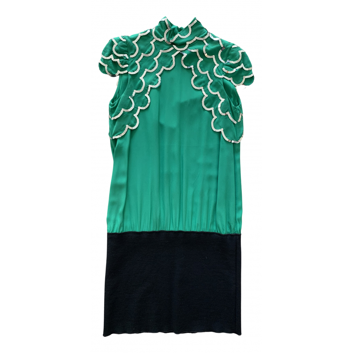 Hoss Intropia \N Kleid in  Gruen Seide
