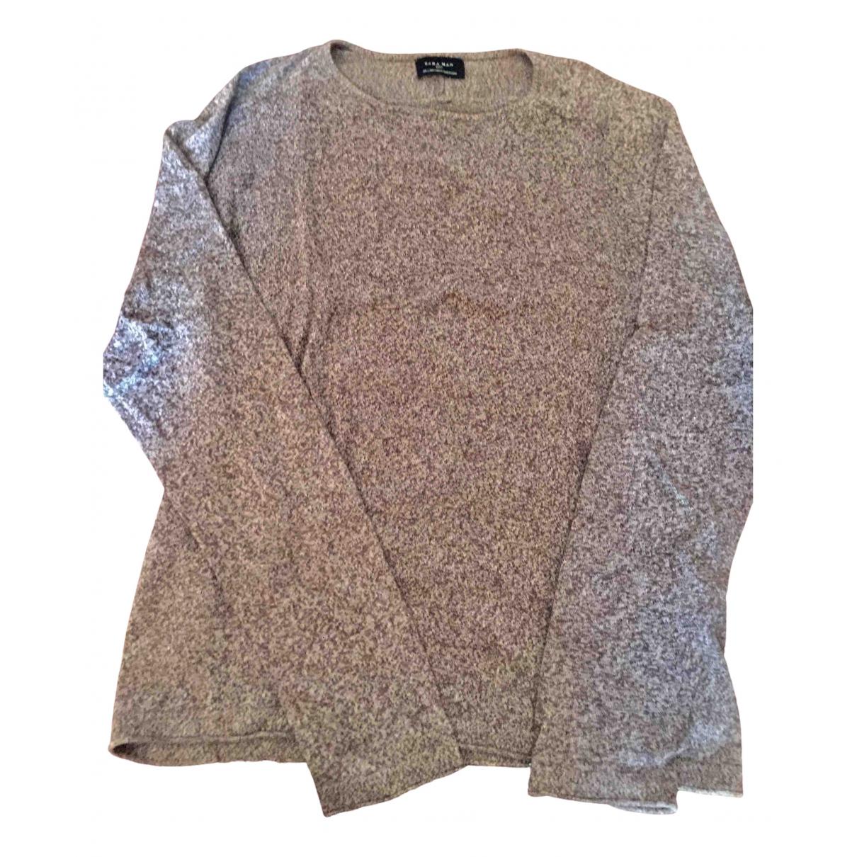 Zara - Pulls.Gilets.Sweats   pour homme en coton - marron