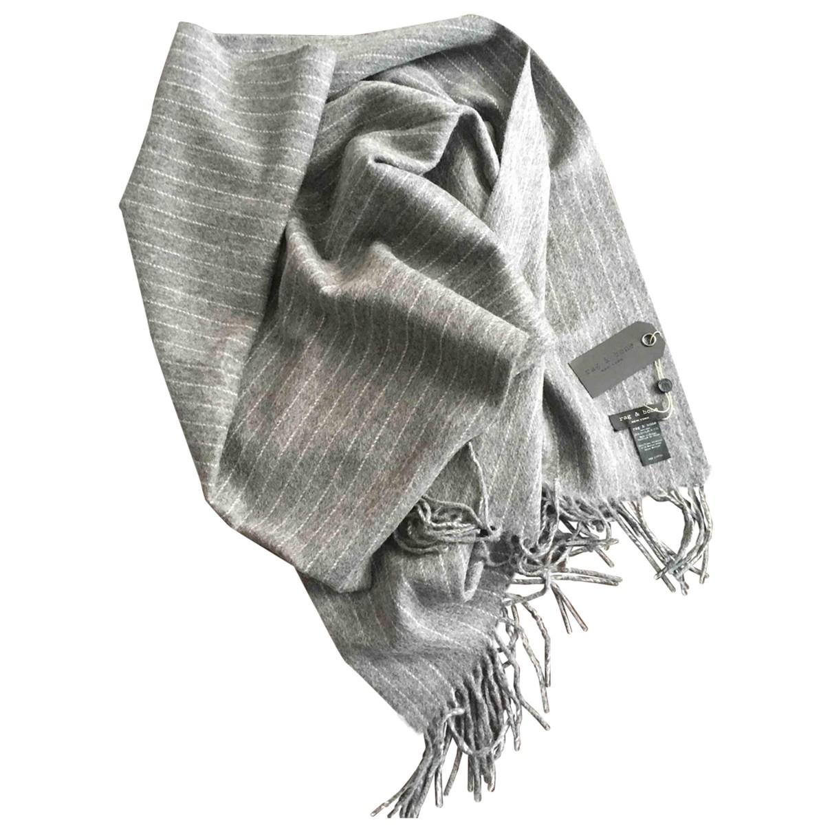 Rag & Bone \N Grey Wool scarf & pocket squares for Men \N