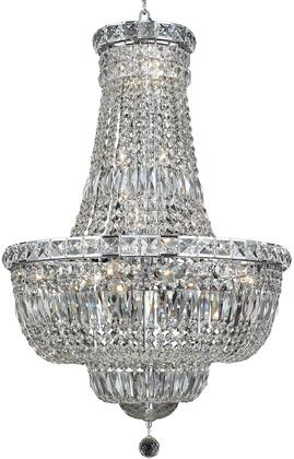 V2528D22C/RC 2528 Tranquil Collection Chandelier D:22In H:31In Lt:22 Chrome Finish (Royal Cut