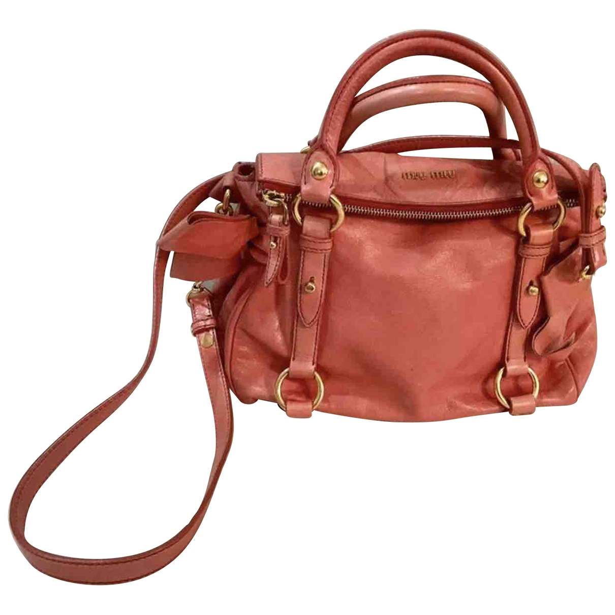 Miu Miu - Sac a main Bow bag pour femme en cuir - rose
