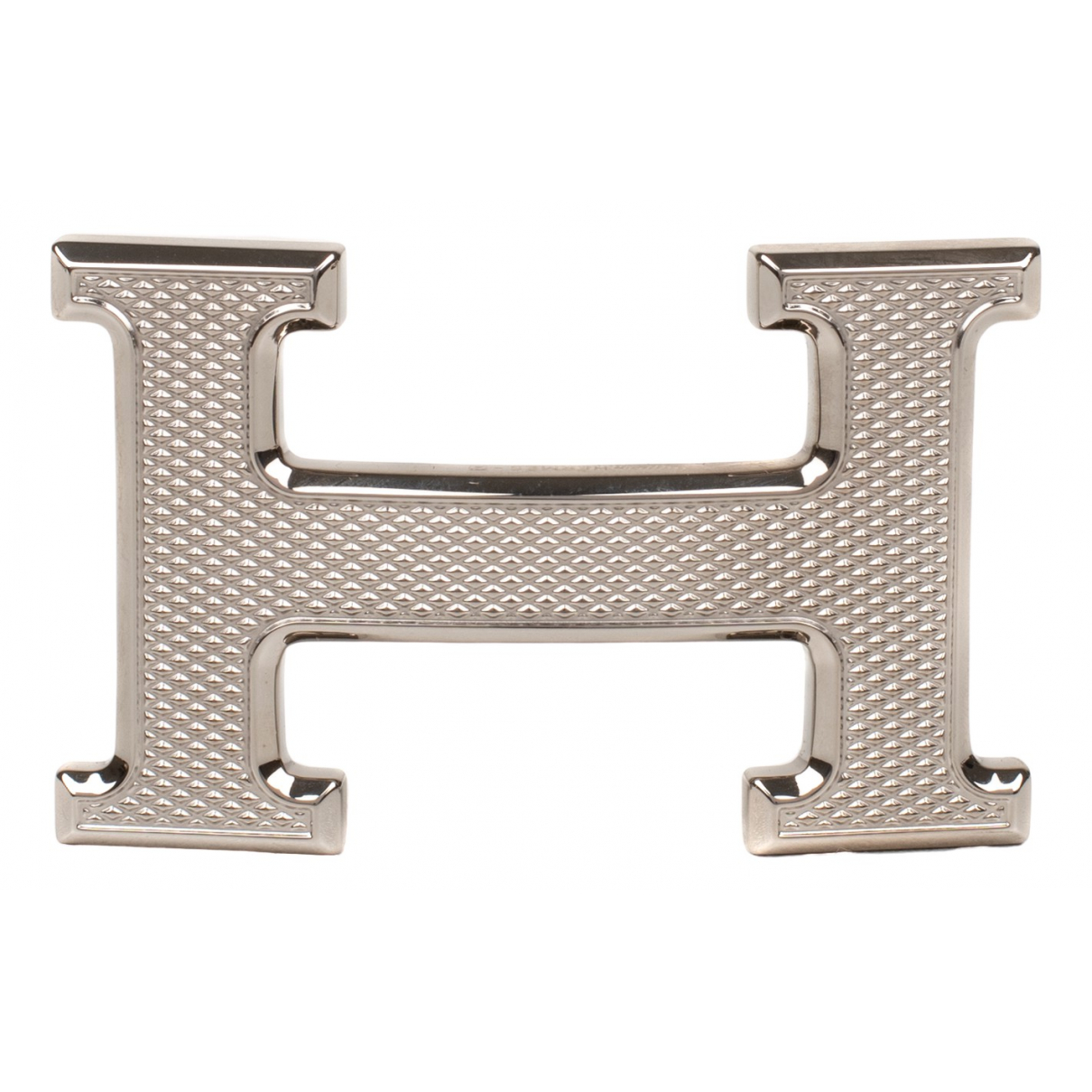 Hermès Boucle seule / Belt buckle Silver Metal belt for Men M international