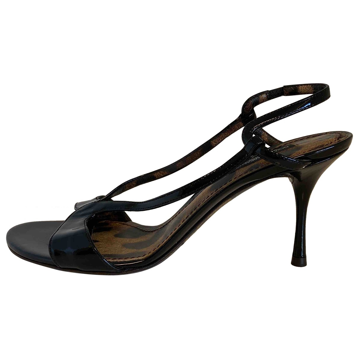 Dolce & Gabbana \N Black Patent leather Sandals for Women 37 EU